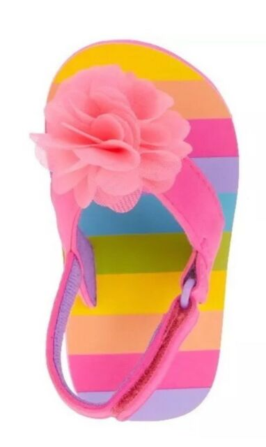 ae7c3b660 NEW Infant Toddler Girls Beach Sandals Flip Flops Size 5 Pink | eBay