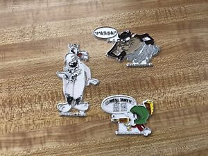 Vintage-Lot-of-3-Looney-Tunes-Magnets-1990s-Taz-Marvin-The-Martian-amp-Sylvester