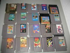 20 Vintage ORIGINAL NINTENDO NES VIDEO GAME LOT Zelda, Mario 1 2,Silver Surfer +