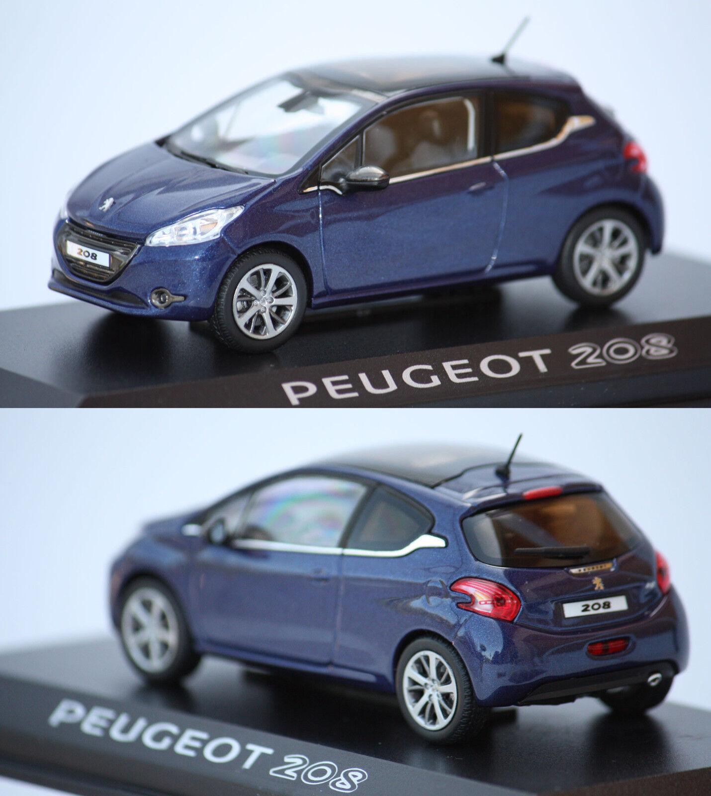 Norev Peugeot 208 3 portes Bleue 2012 1 43 472800