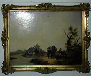 Gemaelde-signiert-M-v-Sterneck-1865-Ol-auf-Leinwand