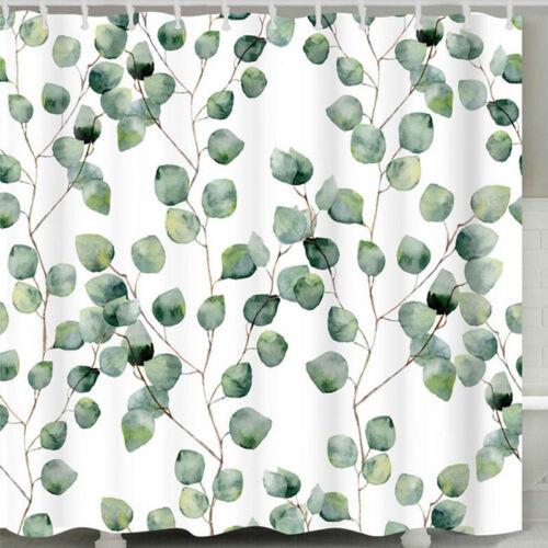 Bathroom Shower Curtain Nature Printed Waterproof Fabric Home Bath Decor Durable