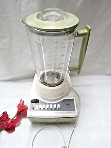 Vintage Avocado Green Hamilton Beach Scovill 14 Speed Blender Plus