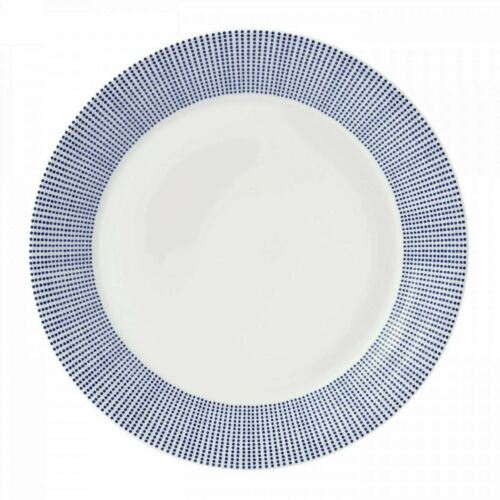 Royal Doulton Pacific Blue Dots Dinner Plate 27cm