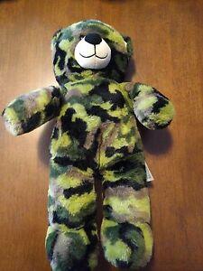 "BABW / Build a Bear Workshop Camouflage 15"" Bear Plush Camo Teddy"