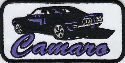 68 CHEVY CAMARO BLACK YELLOW SEW ON PATCH EMBLEM BADGE EMBROIDERED RS SS