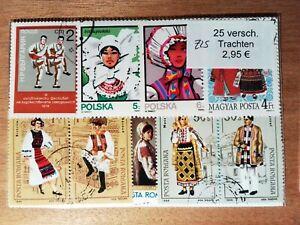 Pack-Pocket-Of-25-Stamps-Oblitere-Folklore-Z25