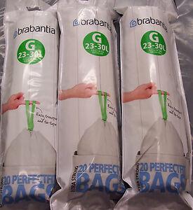 60-X-Veritable-BRABANTIA-PerfectFit-type-fort-G-23-30-L-sacs-poubelles