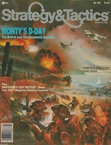 Details about Strategy & Tactics S&T#102 Monty's D-Day Tactical Game  Normandy Unpunched FS