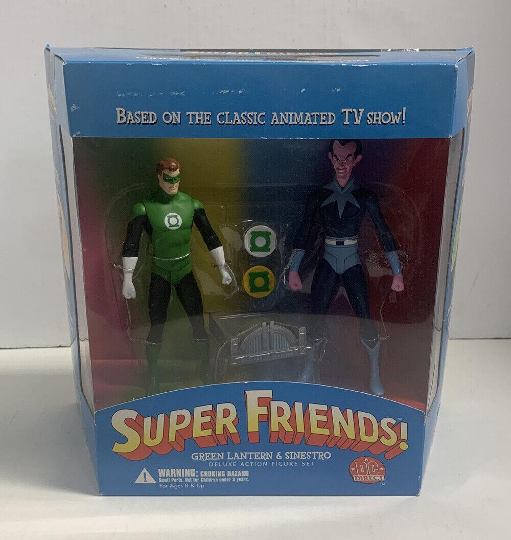 GREEN LANTERN & SINESTRO SUPER FRIENDS DELUXE FIGURE SET SEALED DC 2003