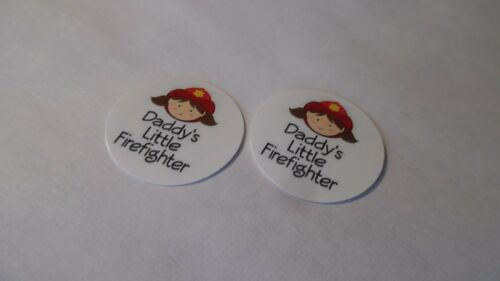 Daddy/'s Little Firefighter Free Shipping Pre Cut One Inch Bottle Cap Images