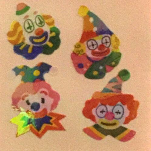 "400 Clown stickers in roll of 100 modules 2/"" x 2/"" RM6907 each sticker 1.00/"""
