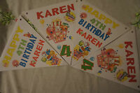 PERSONALISED  SHOPKINS PARTY BUNTING /BANNER / BIRTHDAY DECORATION