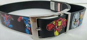 Marvel-Comics-Avengers-Assemble-Boys-Reversible-Leather-Belt-Sizes-S-20-22