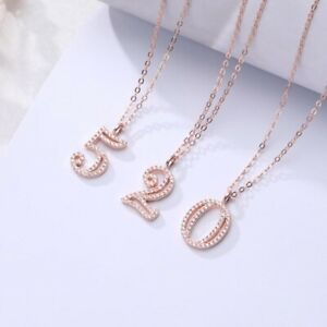 Women-925-Silver-Number-Pendant-Chain-Necklace-Charms-0-9-Number-Lady-Jewelry