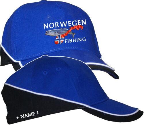 Norwegenangeln Norwegen Anglerhut Angler Angeln Basecap Baseball Kappe Mütze 52