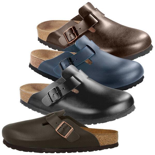 Birkenstock Boston Glattleder Weichbettung Pantoletten Schuhe Clogs Pantoletten Weichbettung Hausschuhe 5331dd
