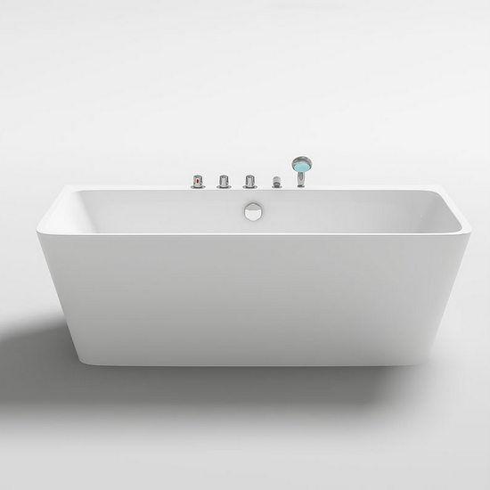 Vasca freestanding 170x80x58h da bagno bianca stile moderno centro stanza  2