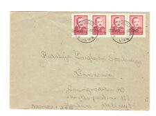 Polen Briefmarken Brief von 1950 Groszy Aufdruck Präsident Mi 626 T 1