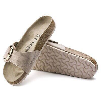 Birkenstock Madrid Big Buckle Leather 40 Narrow Washed Metallic Rose Gold 1012888 | eBay