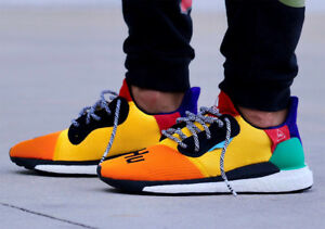 size 40 e81d0 87701 Image is loading Pharrell-Williams-Multi-Color-Adidas-Solar-HU-Glide-