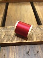 Vintage Belding Corticelli Silk Red 4120 Rod Winding Thread Bamboo Fly Sewing A