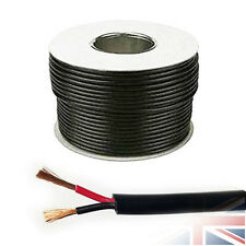11 AMP 12V 0.75mm ROUND Wall 2 Twin Core DC Power Cable Wire Car LED 5 Meters