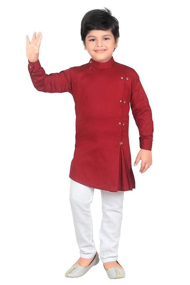 Fiable Kids Ethnic Wear Designer Collection Kurta Et Pyjama Set Pour Garçons DernièRe Mode
