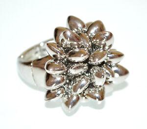 ANELLO-donna-argento-ciondoli-cuori-elastico-a-molla-fascia-estensibile-ring-BB6