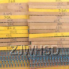 110m 1120pcs 56 Values 14w 025w 1 Metal Film Resistors Assorted Kit Set