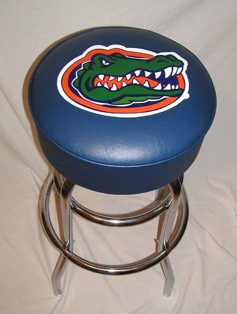 Florida Gators Aligator Logo Sign Bar Stool Stools