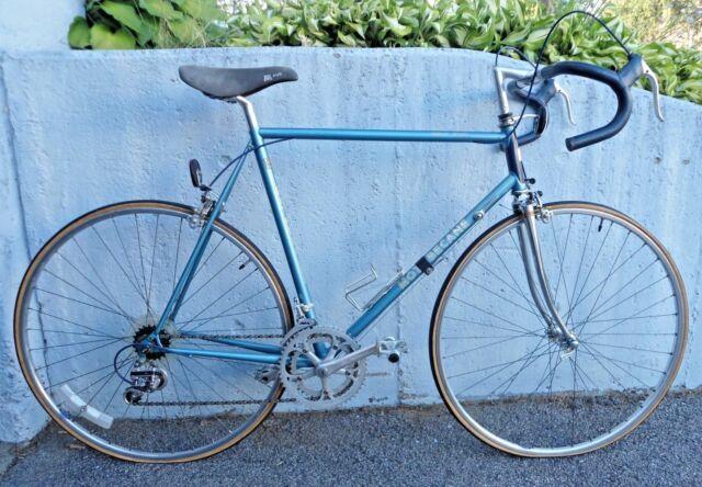 Vintage Motobecane Jubilee Sport Blue Road Touring Bike Gama Steel Frame 59.69mm
