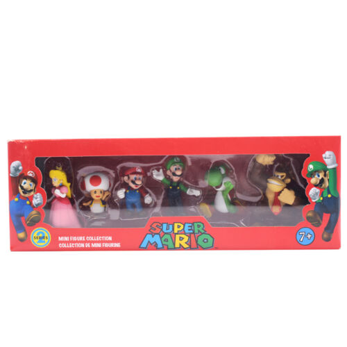 IT Stock 6pcs Super Mario Bros.4 Serie Gioco Action Figure Doll Toy Cake Topper