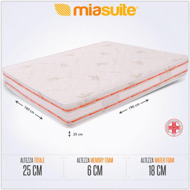 MiaSuite Materasso Matrimoniale in Memory Foam 160x190x25cm ...