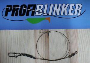Profi Blinker Antidrall Tungsten-Titanium Stahlvorfach, Hecht Zander...