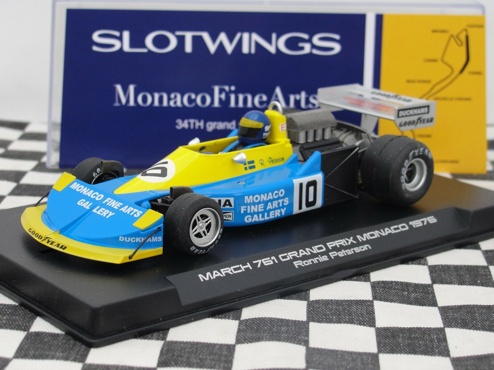 SLOTWINGS MARCH 761   GRAND PRIX MONACO 1976   W045-05  1 32 BNIB LATEST