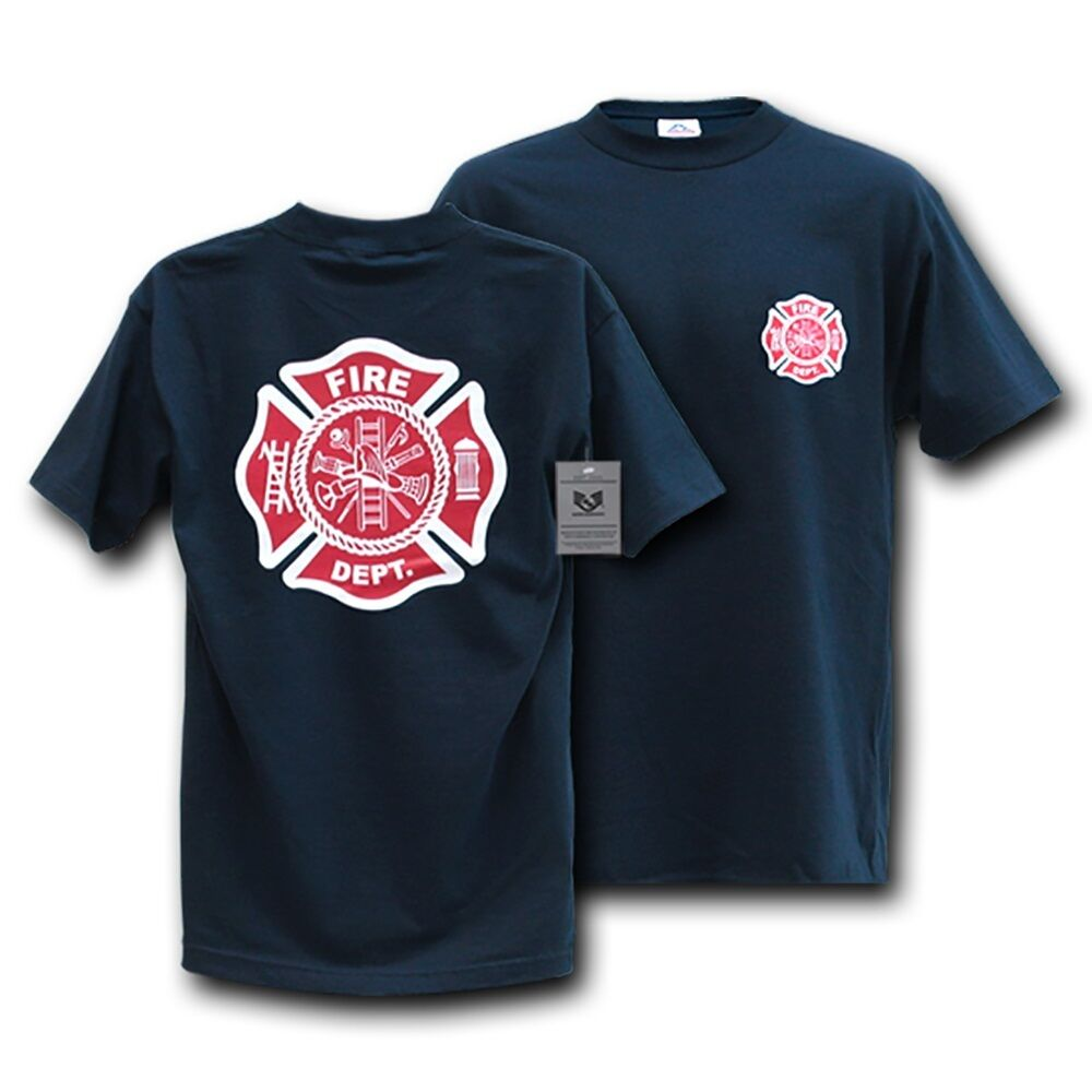 Fire Department Dept Rescue Blue T-Shirt T-Shirts Shirt ...