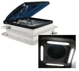 12V-Shower-Roof-Hatch-LED-Lights-Vent-Exhaust-Fan-Caravan-Camper-RV-Motor-home