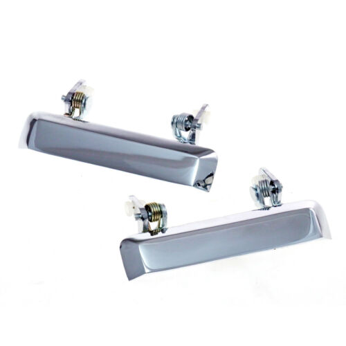 CHROME METAL DOOR HANDLE PAIR SUZUKI J30 J40 JIMNY 550 SJ40 413 CARIBIAN 81-1998