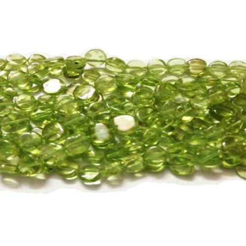 pcs Handcut Pierres Précieuses Fabrication de Bijoux Péridot Plain pièce Perles 3-5 mm vert 60