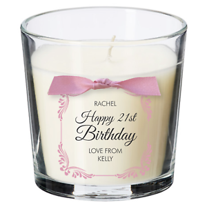 21st birthday present personalised candle gift for women her decorations party