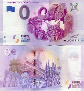 Lisbon-Zoo-Jardim-Zoologico-2019-Series-1-Portugal-0-Euro-Souvenir-Note