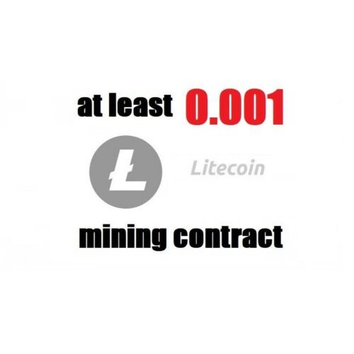 at least 0.001 Litecoin LTC 1 hour Cryptocurrency mining contract