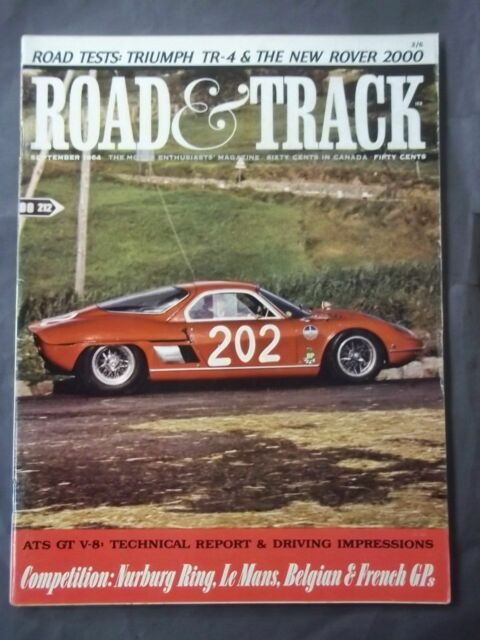 Vintage Road & Track Magazine - September 1964 ATS GT V8 Technical Report