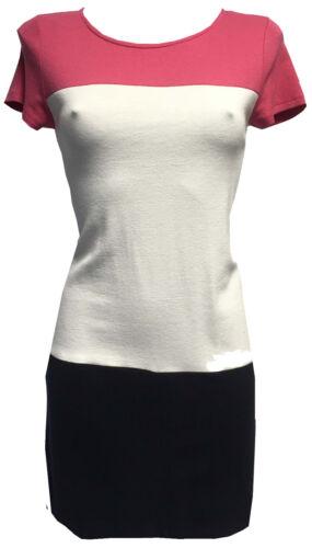 WHOLESALE JOB LOT WOMENS PINK WHITE COLOUR BLOCK T SHIRT SHIFT DRESS X 6 PIECES