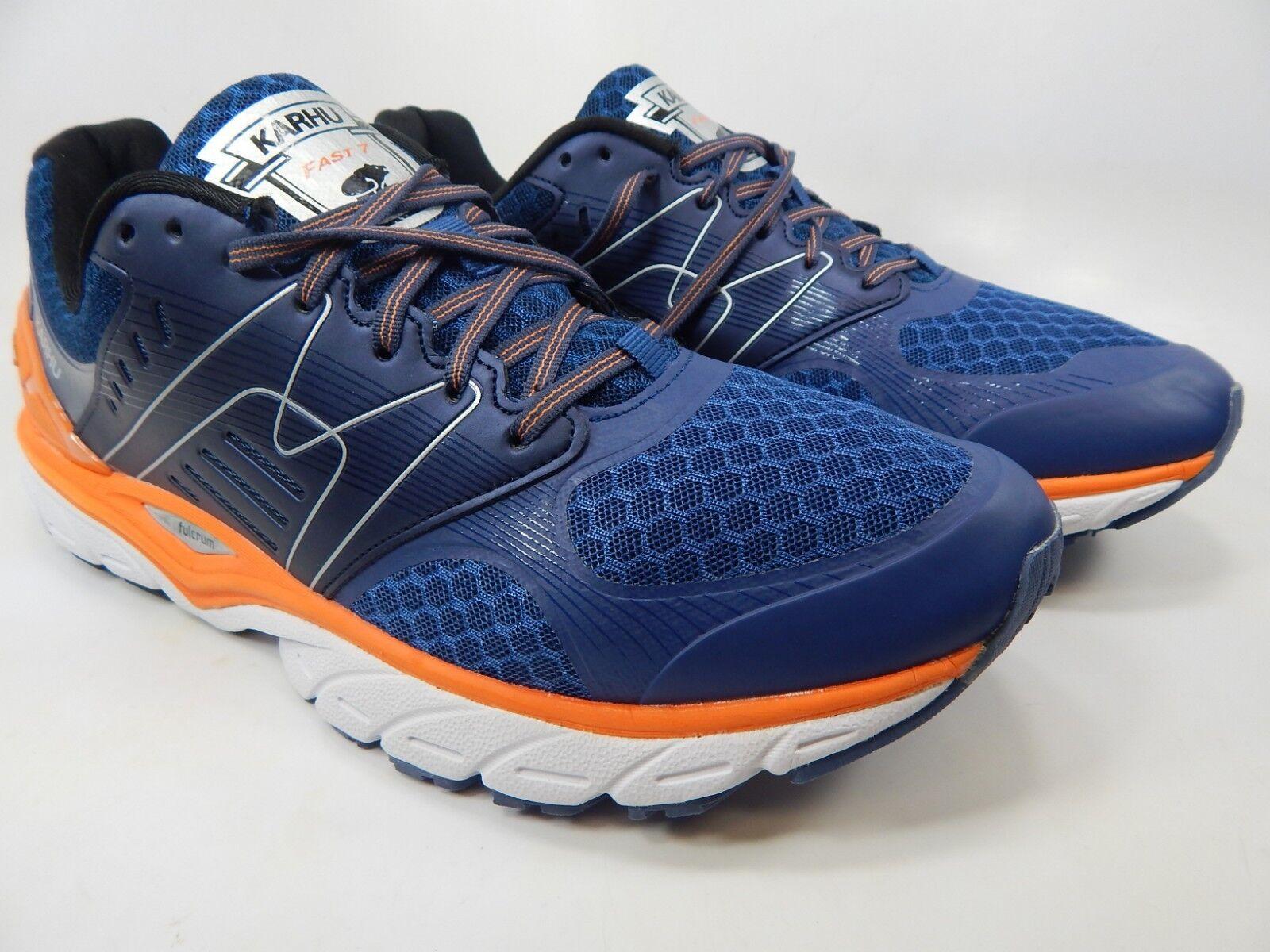 KARHU Fast 7 MRE tamaño nos 11.5 m (D) Para hombres Zapatos para Correr Azul Naranja