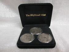 Goaltenders Brodeur Hasek Roy Highland Mint Solid Nickel Silver 3 Coin Set