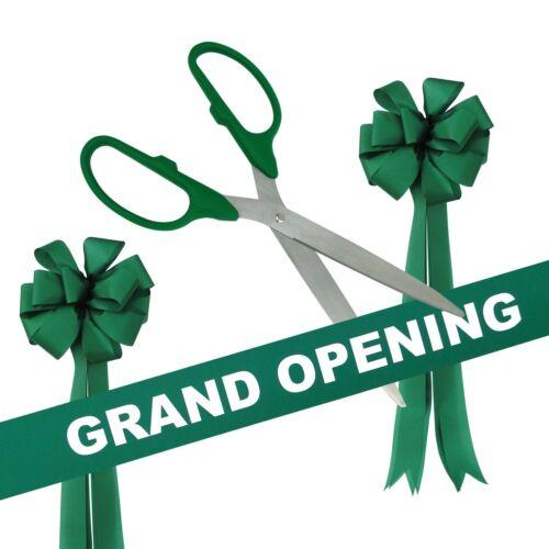 "25/"" Green//Silver Ceremonial Ribbon Cutting Scissors Grand Opening Kit"