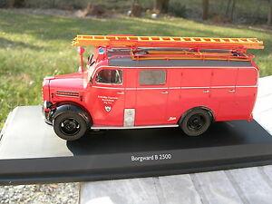 Schuco 1/43 Camion Pompier Borgward B 2500 Lf8 !!!!