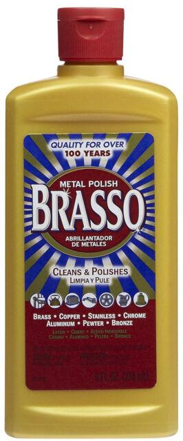 BRASSO 8 oz Metal Polish & Cleaner for Brass, Copper, Aluminum NEW!